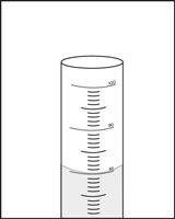 The volume level of water placed in a graduated cylinder should be read from the bottom of the small curve called the meniscus