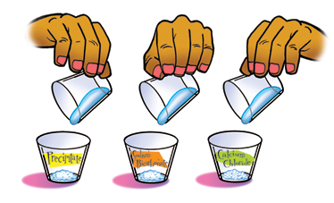 Illustration of labeled cups.
