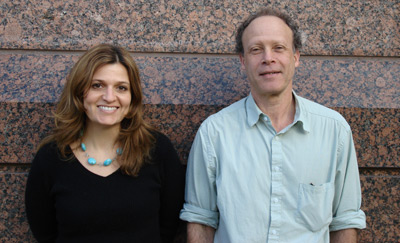 Patti Galvan and James Kessler in front of ACS headquarters in Washington, DC