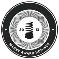 A 2013 webby award badge